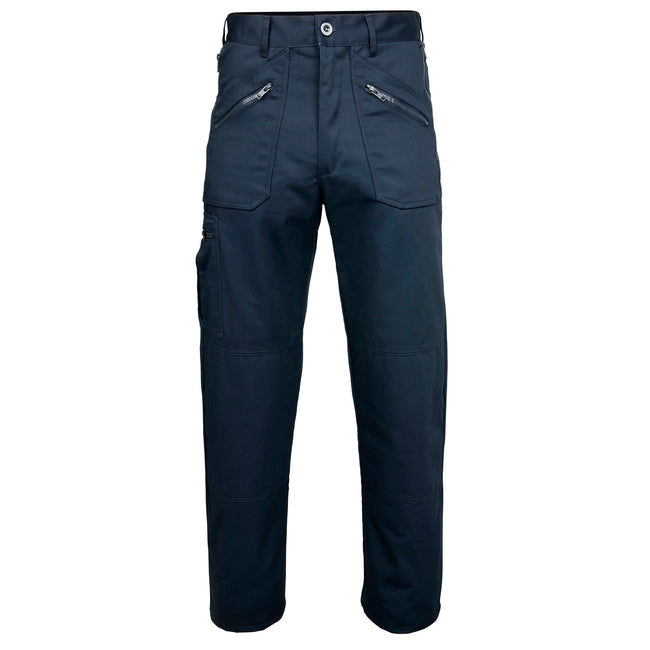 Navy - Back - RTY Workwear Mens Utility Trousers - Pants