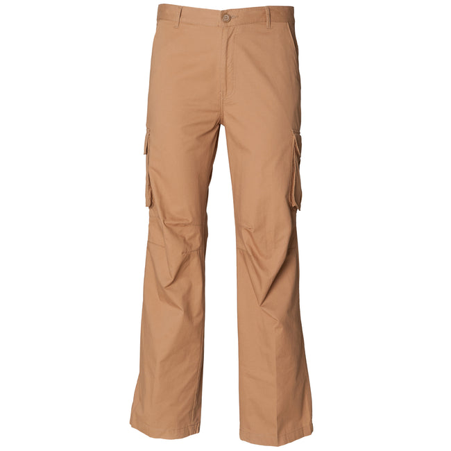 Sand - Front - Skinni Fit Mens Cargo Trousers