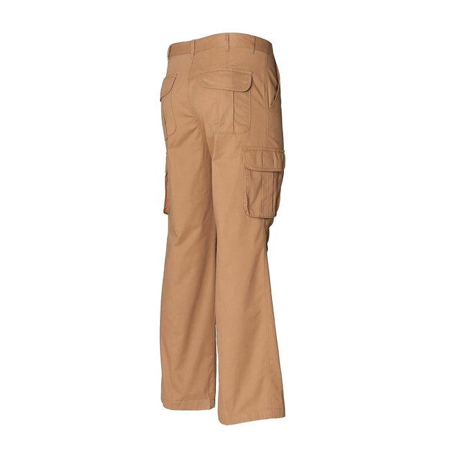 Sand - Back - Skinni Fit Mens Cargo Trousers