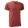 Red - Front - Anvil Mens V Neck Fashion Tee - T-Shirt