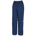 Navy-White - Front - Spiro Womens-Ladies Micro-Lite Performance Sports Pants - Tracksuit Bottoms