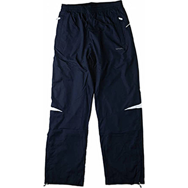 Navy-White - Back - Spiro Womens-Ladies Micro-Lite Performance Sports Pants - Tracksuit Bottoms