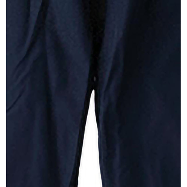 Navy-White - Side - Spiro Womens-Ladies Micro-Lite Performance Sports Pants - Tracksuit Bottoms