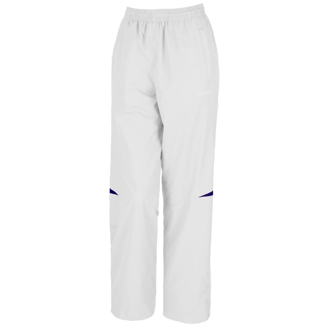 White-Navy - Front - Spiro Womens-Ladies Micro-Lite Performance Sports Pants - Tracksuit Bottoms