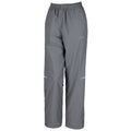 Grey-Aqua - Front - Spiro Womens-Ladies Micro-Lite Performance Sports Pants - Tracksuit Bottoms