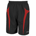 Black-Red - Front - Spiro Mens Micro-Team Sports Shorts