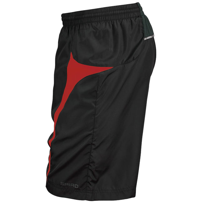 Navy-White - Front - Spiro Mens Micro-Team Sports Shorts