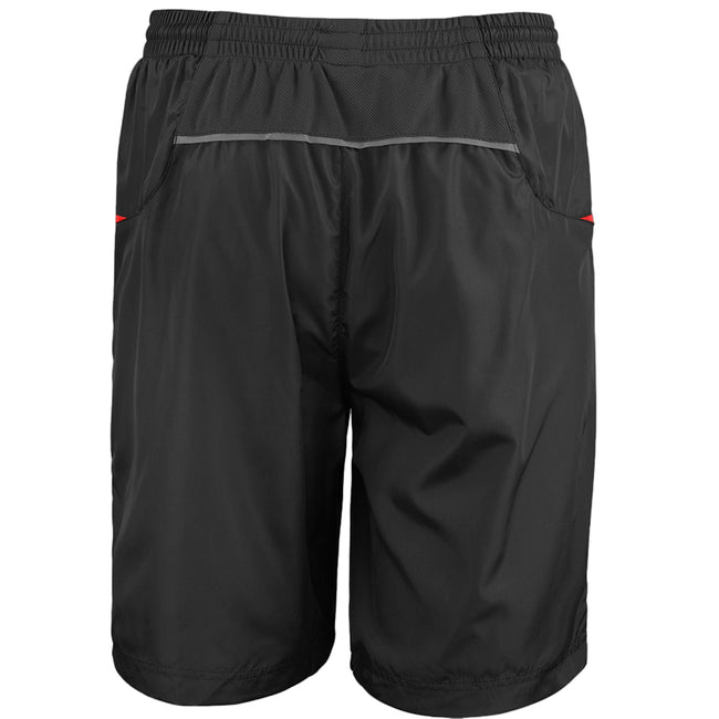 Black-Grey - Front - Spiro Mens Micro-Team Sports Shorts