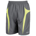 Grey-Lime - Front - Spiro Mens Micro-Team Sports Shorts
