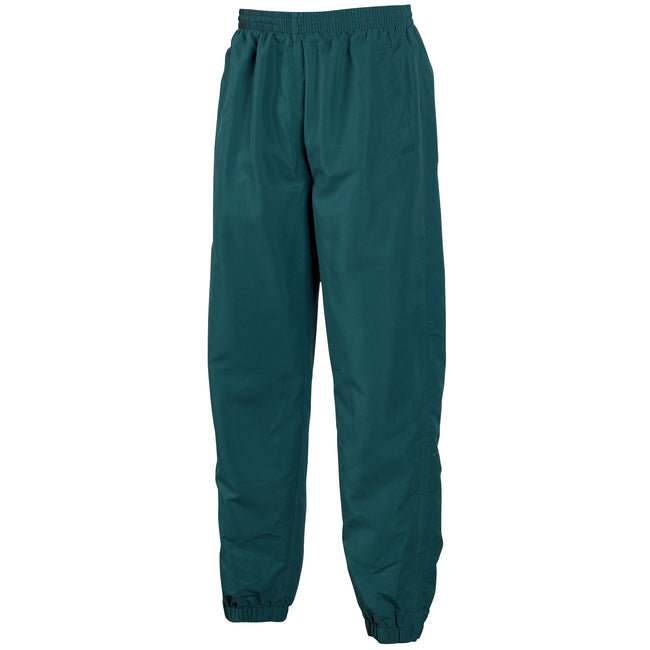 Dark Green - Front - Tombo Teamsport Mens Sports Lined Tracksuit Bottoms - Jog Pants