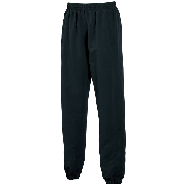 Black - Front - Tombo Teamsport Mens Sports Lined Tracksuit Bottoms - Jog Pants
