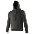 Jet Black - Front - Awdis Mens Street Hooded Sweatshirt - Hoodie