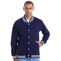 Oxford Navy - Side - Awdis Adults Unisex College Varsity Jacket