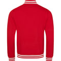 Fire Red - Back - Awdis Adults Unisex College Varsity Jacket