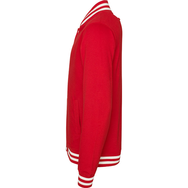 Fire Red - Side - Awdis Adults Unisex College Varsity Jacket