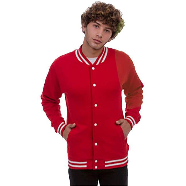 Fire Red - Lifestyle - Awdis Adults Unisex College Varsity Jacket