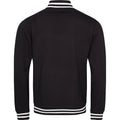 Jet Black - Back - Awdis Adults Unisex College Varsity Jacket