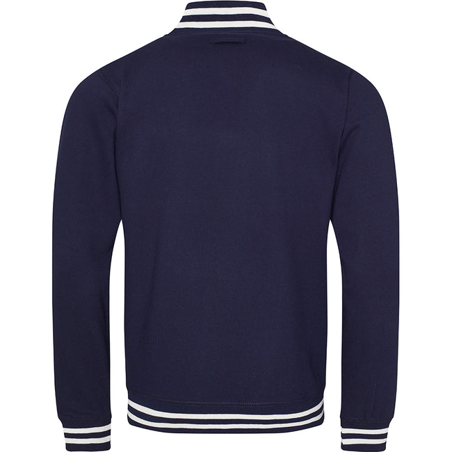 Oxford Navy - Back - Awdis Adults Unisex College Varsity Jacket