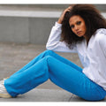 Sapphire Blue - Back - Awdis Girlie Womens Jogpants - Sweatpants - Jogging Bottoms