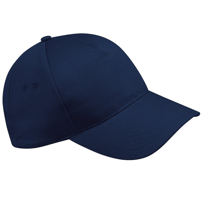 French Navy - Front - Beechfield Unisex Ultimate 5 Panel Baseball Cap