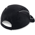 Black - Back - Beechfield Coolmax® Flow Mesh Baseball Cap - Headwear