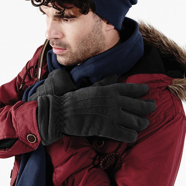 French Navy - Front - Beechfield Unisex Suprafleece Anti-Pilling Thinsulate Thermal Winter Gloves