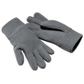 Charcoal - Front - Beechfield Unisex Suprafleece Anti-Pilling Alpine Winter Gloves