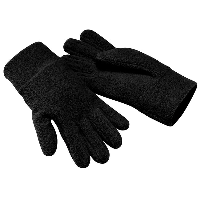 Black - Front - Beechfield Unisex Suprafleece Anti-Pilling Alpine Winter Gloves