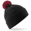 White-Black - Front - Beechfield Girls Snowstar Duo Extreme Winter Hat