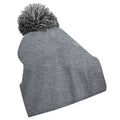 Heather Grey- Black - Front - Beechfield Girls Snowstar Duo Extreme Winter Hat