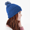 Kelly Green-White - Front - Beechfield Girls Snowstar Duo Extreme Winter Hat