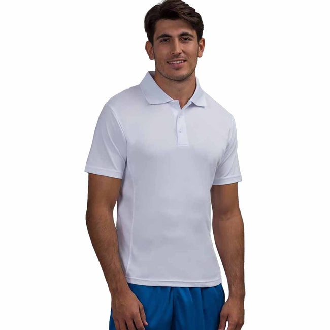 French Navy - Front - AWDis Cool Mens SuperCool Sports Performance Short Sleeve Polo Shirt