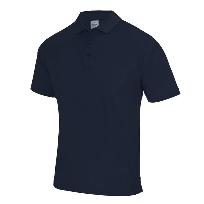 Sapphire Blue - Front - AWDis Cool Mens SuperCool Sports Performance Short Sleeve Polo Shirt