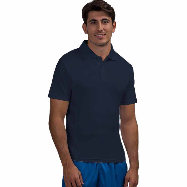 Arctic White - Front - AWDis Cool Mens SuperCool Sports Performance Short Sleeve Polo Shirt
