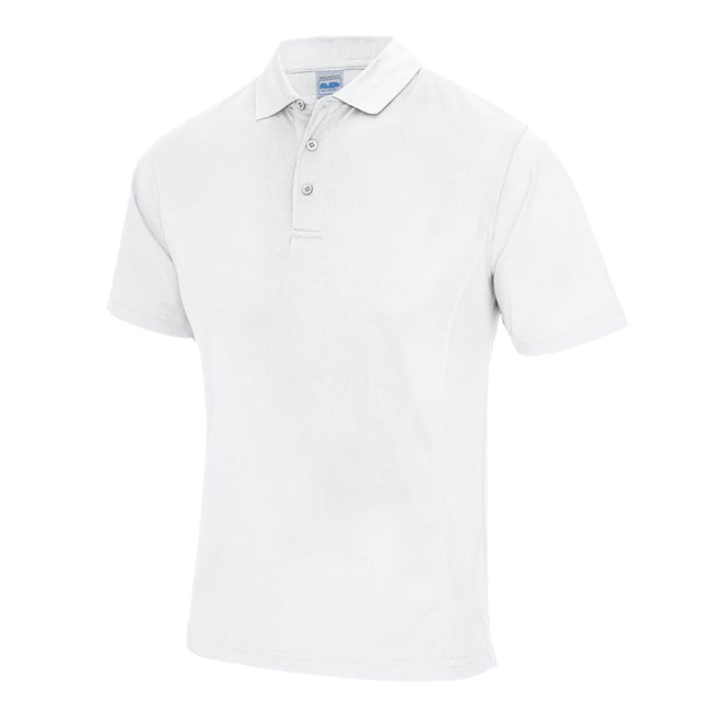 Fire Red - Front - AWDis Cool Mens SuperCool Sports Performance Short Sleeve Polo Shirt