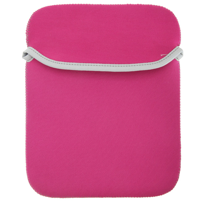 Fuchsia- Graphite Grey - Front - BagBase Reversible IPad - Tablet Sleeve - Bag