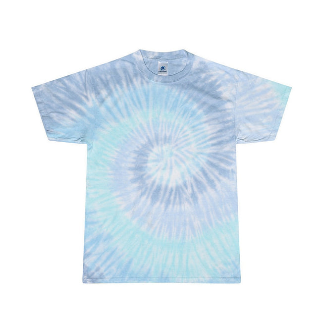 Lagoon - Front - Colortone Womens-Ladies Rainbow Tie-Dye Short Sleeve Heavyweight T-Shirt