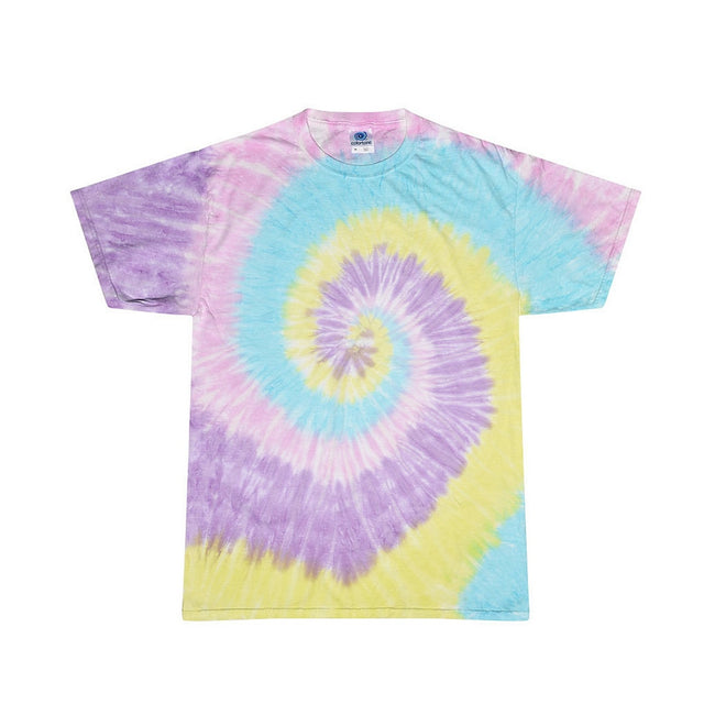 Jelly Bean - Front - Colortone Womens-Ladies Rainbow Tie-Dye Short Sleeve Heavyweight T-Shirt