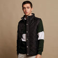 Black - Back - Front Row Mens Diamond Quilt Gilet - Bodywarmer