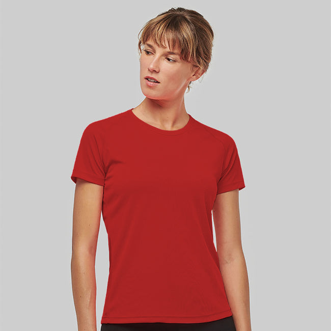 Red - Back - Kariban Proact Womens Performance Sports - Training T-shirt