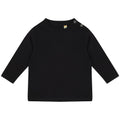 Black - Front - Larkwood Baby Unisex Plain Long Sleeve T-Shirt
