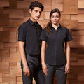 Black - Lifestyle - Premier Womens-Ladies Supreme Heavy Poplin Short Sleeve Work Shirt
