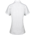 White - Back - Premier Womens-Ladies Supreme Heavy Poplin Short Sleeve Work Shirt