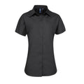 Black - Front - Premier Womens-Ladies Supreme Heavy Poplin Short Sleeve Work Shirt