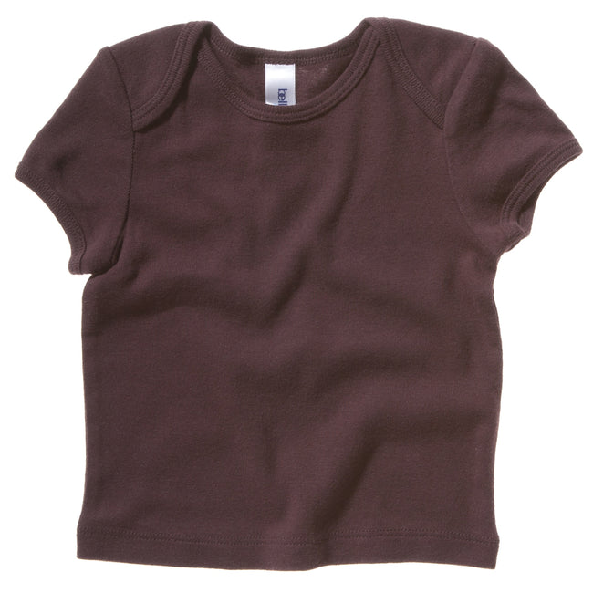 Chocolate - Front - Bella + Canvas Baby Unisex Short Sleeve Rib T-Shirt