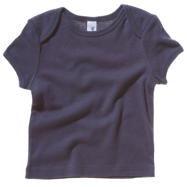 Navy - Front - Bella + Canvas Baby Unisex Short Sleeve Rib T-Shirt