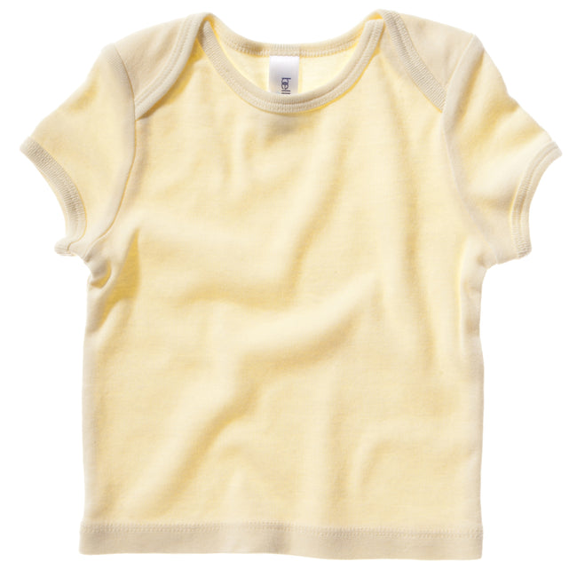 Pale Yellow - Front - Bella + Canvas Baby Unisex Short Sleeve Rib T-Shirt