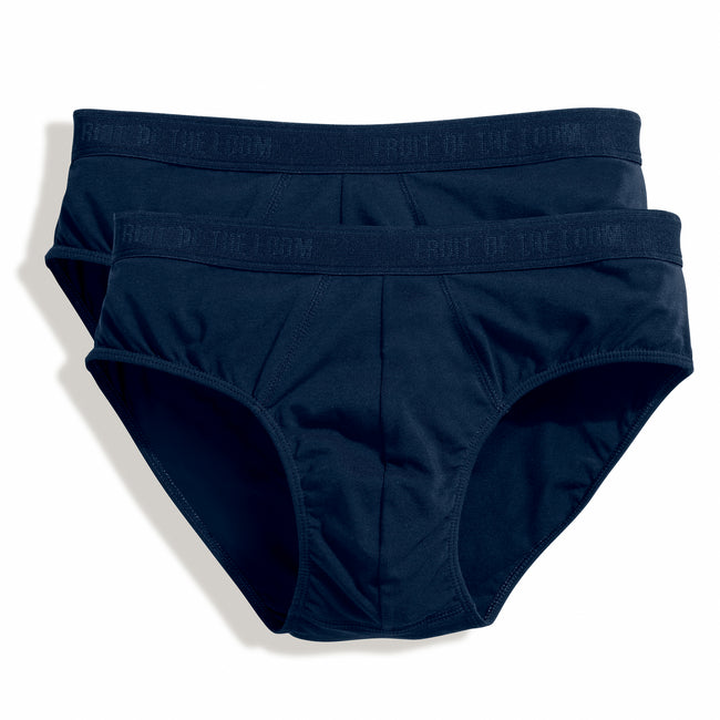 Underwear Navy - Front - Fruit Of The Loom Mens Classic Sport Briefs (Pack Of 2)