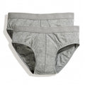 Light Grey Marl - Front - Fruit Of The Loom Mens Classic Sport Briefs (Pack Of 2)