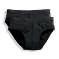 Black - Front - Fruit Of The Loom Mens Classic Sport Briefs (Pack Of 2)